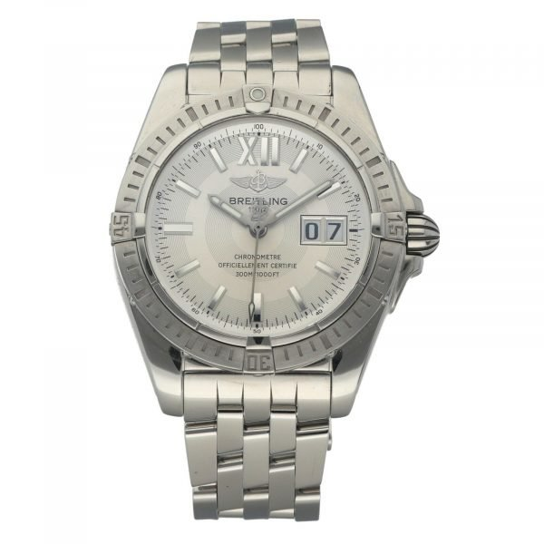 Breitling A49350 Windrider Cockpit Steel Silver Dial 42 Automatic Wrist Watch 133658550868