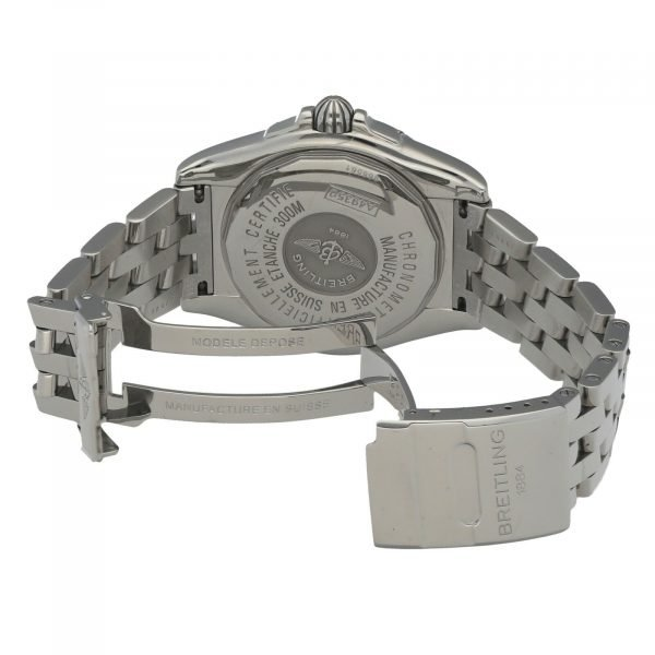 Breitling A49350 Windrider Cockpit Steel Silver Dial 42 Automatic Wrist Watch 133658550868 7