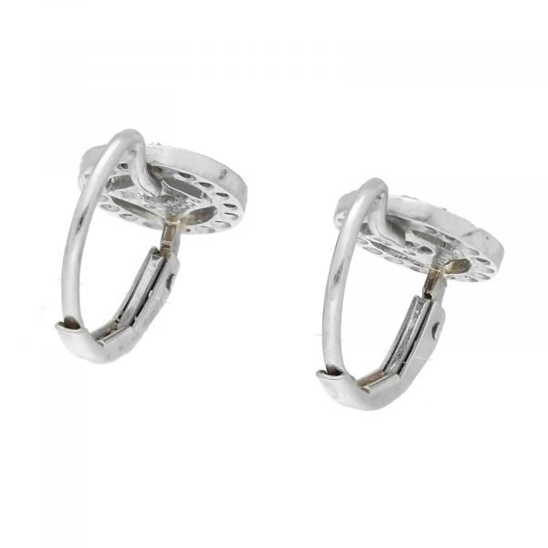 Cathy Waterman Platinum Oval Shape Pave Diamond Lever Back Earrings 114549043498 4