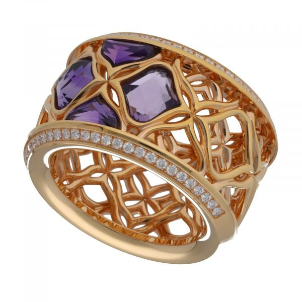 Chopard 829564 5010 Imperiale 18k Rose Gold 750 Diamonds Womens Ring Size 65 114622503628 3