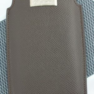 Chopard 95012 0110 iPhone Case Brown Leather Business Card Holder Made in Italy 123702000758