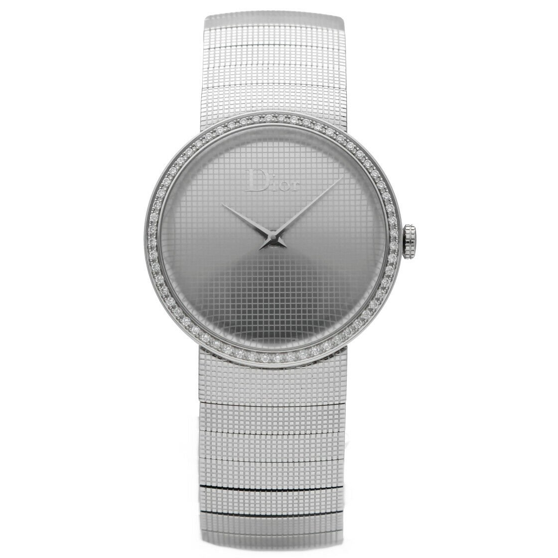 Christian Dior CD042111 Diamond Bezel Stainless Steel 33mm Quartz Womens Watch 123557650708