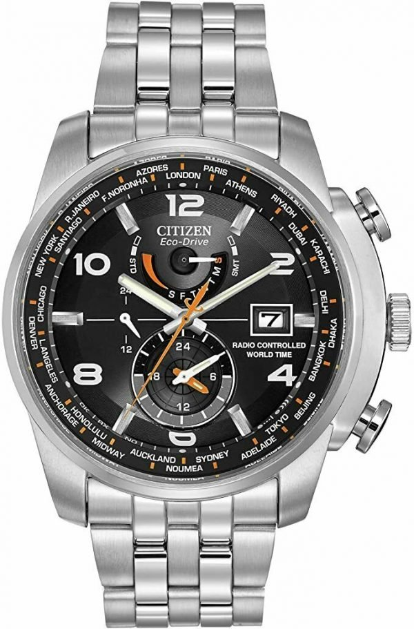 Citizen Eco Drive AT9010 52E World Time A T Radio Controlled Solar Mens Watch 133570386178
