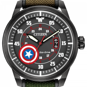 Citizen Eco Drive AW1367 05W Captain America Camouflage 45mm Solar Mens Watch 133570217318