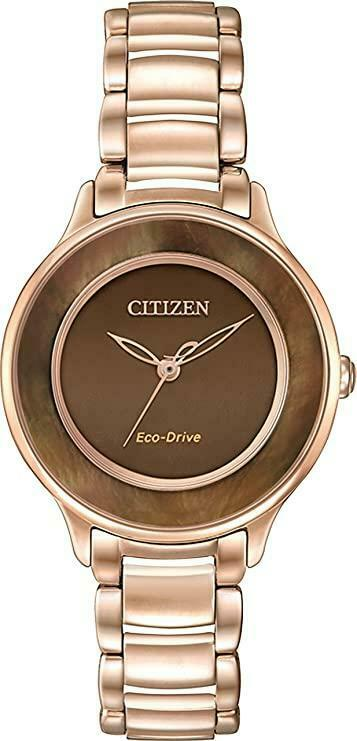 Citizen Eco Drive EM0382 86X Circle of Time Rose Gold 30mm Solar Womens Watch 114507277168