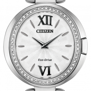 Citizen Eco Drive EX1500 52A Capella Stainless Steel 34mm Solar Womens Watch 114507184588