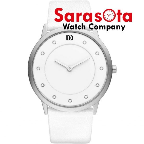Danish Design IV12Q1032 White Dial Stainless Steel White Leather Wrist Watch 113559052648