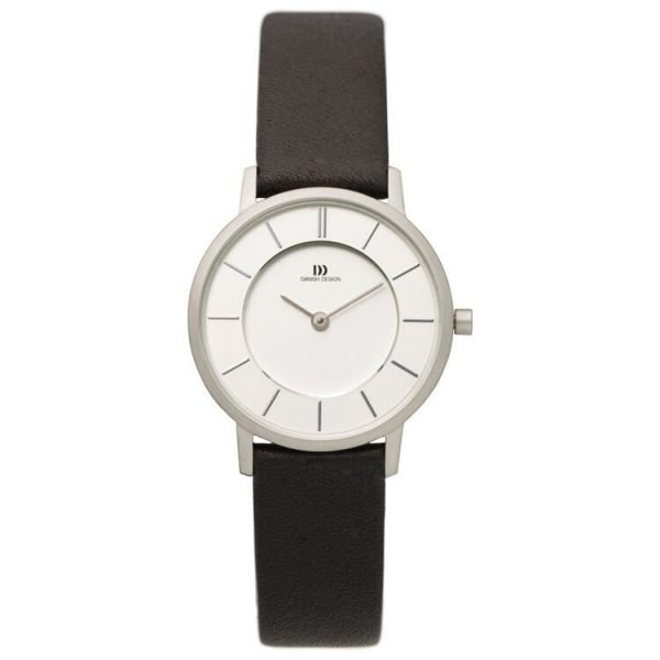Danish Design IV12Q789 Silver Dial Stainless Steel Leather Quartz Womens Watch 122233416898