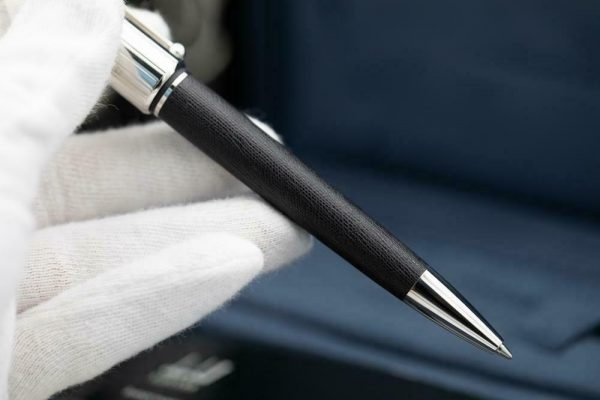 Dunhill Limited Edition Sidecar Black Leather Chrome Chassis Ballpoint 55 Pen 133244161328 4