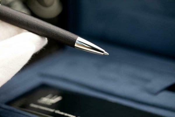 Dunhill Limited Edition Sidecar Black Leather Chrome Chassis Ballpoint 55 Pen 133244161328 5