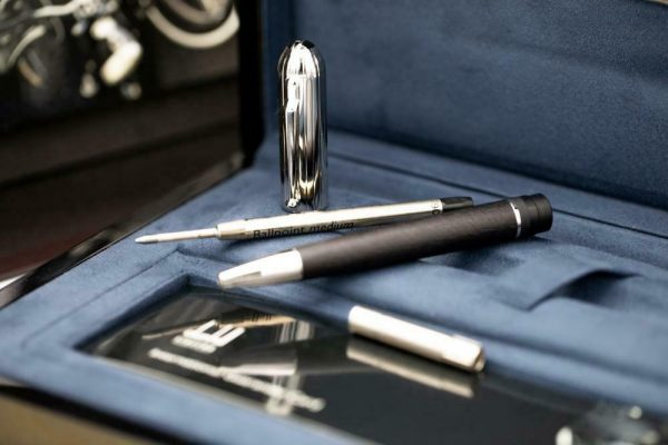 Dunhill Limited Edition Sidecar Black Leather Chrome Chassis Ballpoint 55 Pen 133244161328 6
