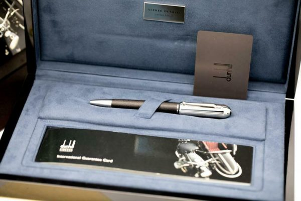 Dunhill Limited Edition Sidecar Black Leather Chrome Chassis Ballpoint 55 Pen 133244161328