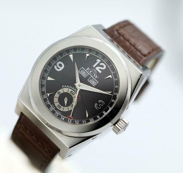 ECW European Company Panhard M31 Black Dial Leather 41mm Automatic Mens Watch 114012973258 3
