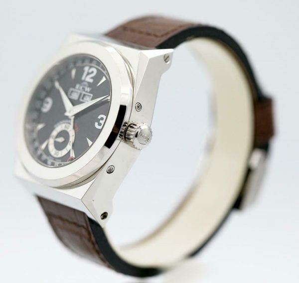 ECW European Company Panhard M31 Black Dial Leather 41mm Automatic Mens Watch 114012973258 5