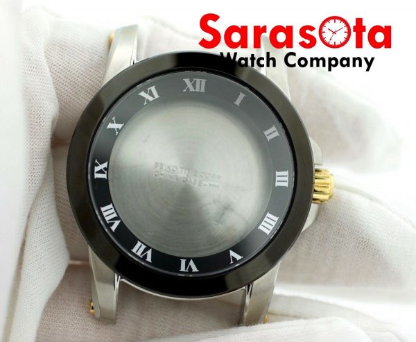 Genuine Seiko 7D56 0AB0 Black Bezel Stainless Steel Case wSapphire Crystal 113536687888