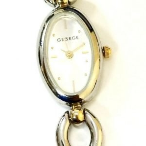 George 753H Stainless Steel Two Tone Silver Dial Womens Dress Watch 121425962468