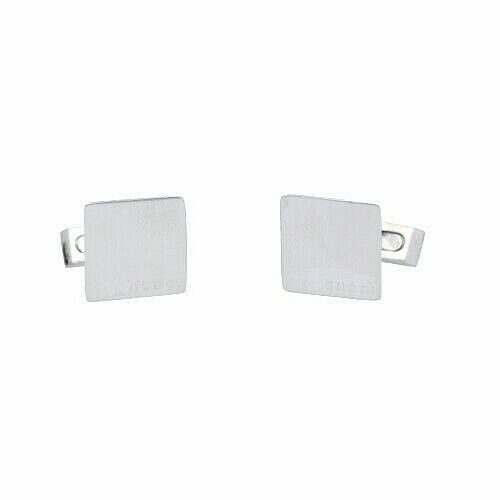 Gucci 925 Italy Sterling Silver Square Mens Jewelry Cufflinks Gift 133388924958 2