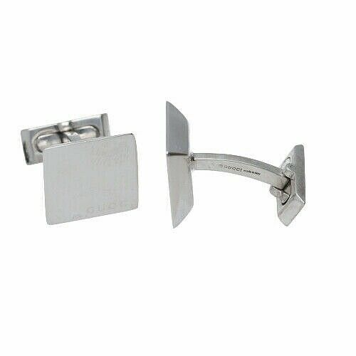 Gucci 925 Italy Sterling Silver Square Mens Jewelry Cufflinks Gift 133388924958 4