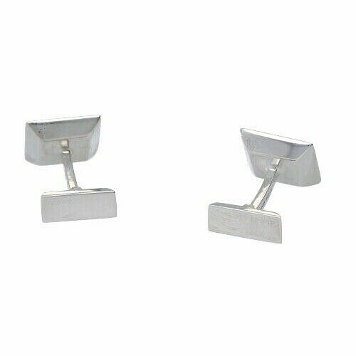 Gucci 925 Italy Sterling Silver Square Mens Jewelry Cufflinks Gift 133388924958 5
