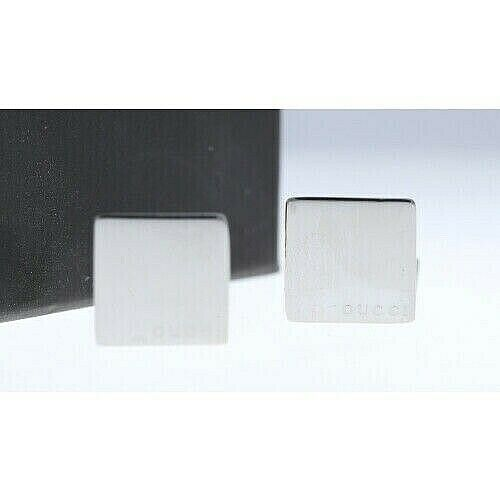 Gucci 925 Italy Sterling Silver Square Mens Jewelry Cufflinks Gift 133388924958 6