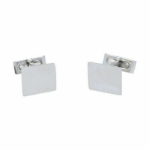 Gucci 925 Italy Sterling Silver Square Mens Jewelry Cufflinks Gift 133388924958