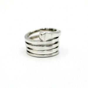 Gucci Chiodo Spiral Nail 18K White Gold Womens Ring Size 65 133081819088