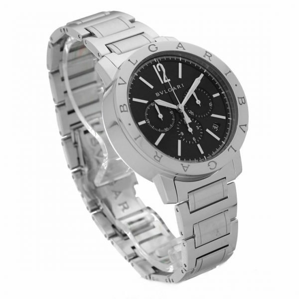 BVLGARI BB 41 S CH Chronograph Stainless Steel Black Dial Automatic Mens Watch 124264133639 3
