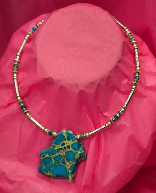 Beautiful Hand Made Choker Necklace with Turquoise Design by Ivana Ruzzo 112051209229 2