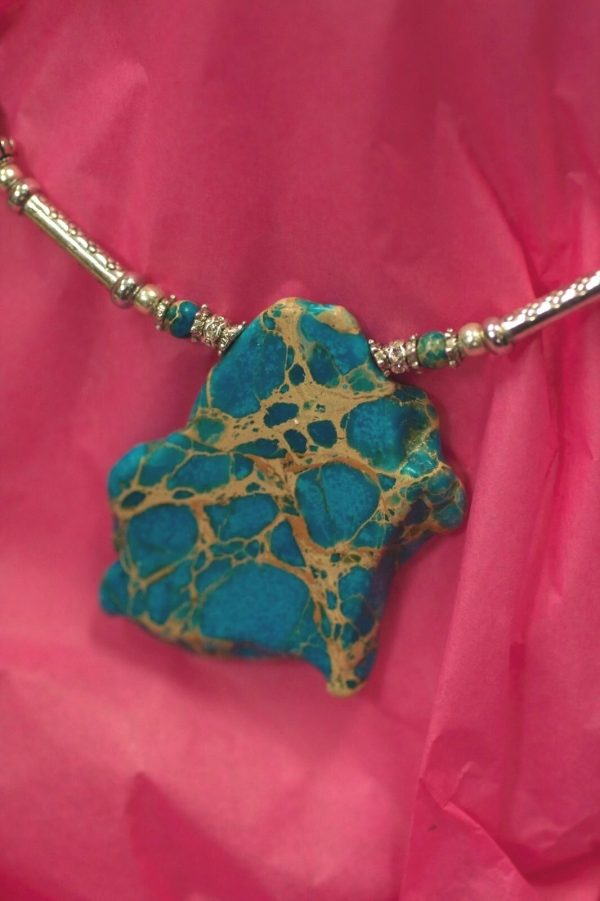 Beautiful Hand Made Choker Necklace with Turquoise Design by Ivana Ruzzo 112051209229 3