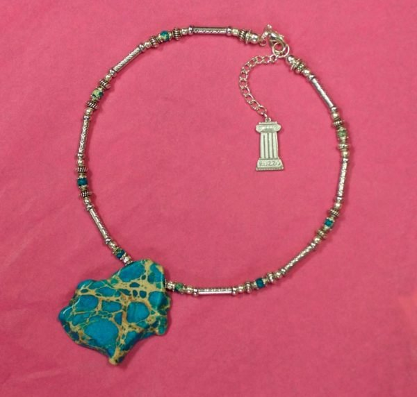 Beautiful Hand Made Choker Necklace with Turquoise Design by Ivana Ruzzo 112051209229 4