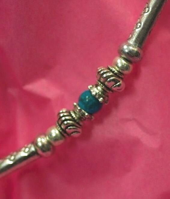 Beautiful Hand Made Choker Necklace with Turquoise Design by Ivana Ruzzo 112051209229 6