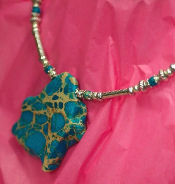 Beautiful Hand Made Choker Necklace with Turquoise Design by Ivana Ruzzo 112051209229 8