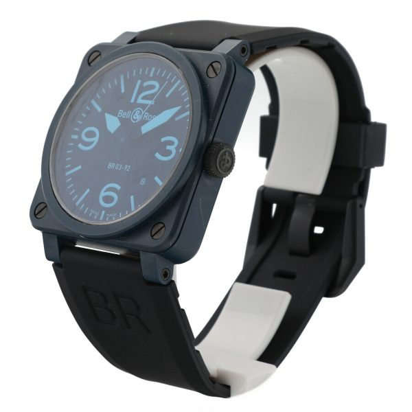 Bell Ross BR03 92 Blue Ceramic Rubber 42mm Swiss Automatic Mens Watch 124810444379 2