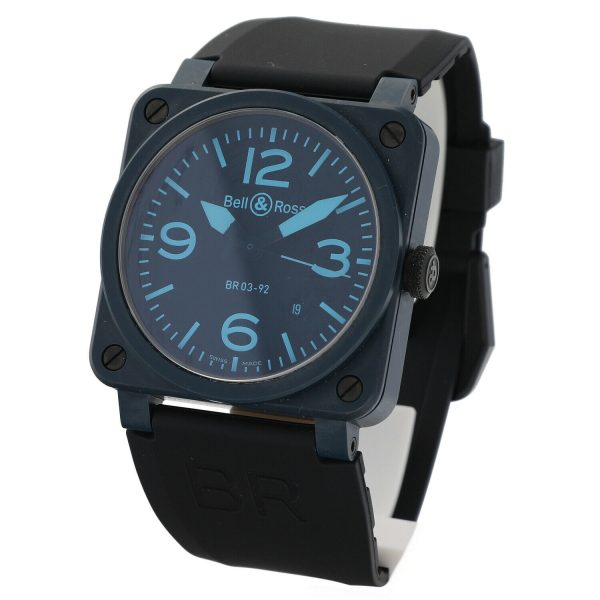 Bell Ross BR03 92 Blue Ceramic Rubber 42mm Swiss Automatic Mens Watch 124810444379 3