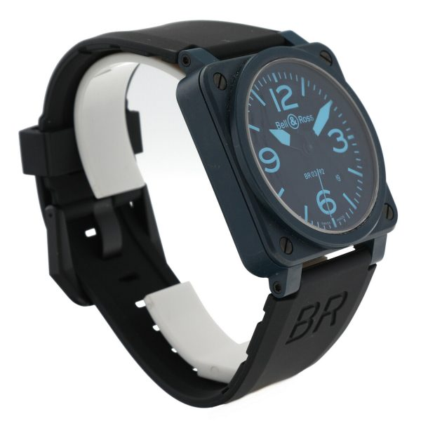 Bell Ross BR03 92 Blue Ceramic Rubber 42mm Swiss Automatic Mens Watch 124810444379 4