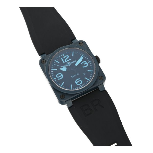 Bell Ross BR03 92 Blue Ceramic Rubber 42mm Swiss Automatic Mens Watch 124810444379 5