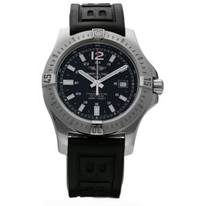 Breitling Colt A17388 Black Dial 44mm Steel Rubber Band Automatic Mens Watch 133372522149