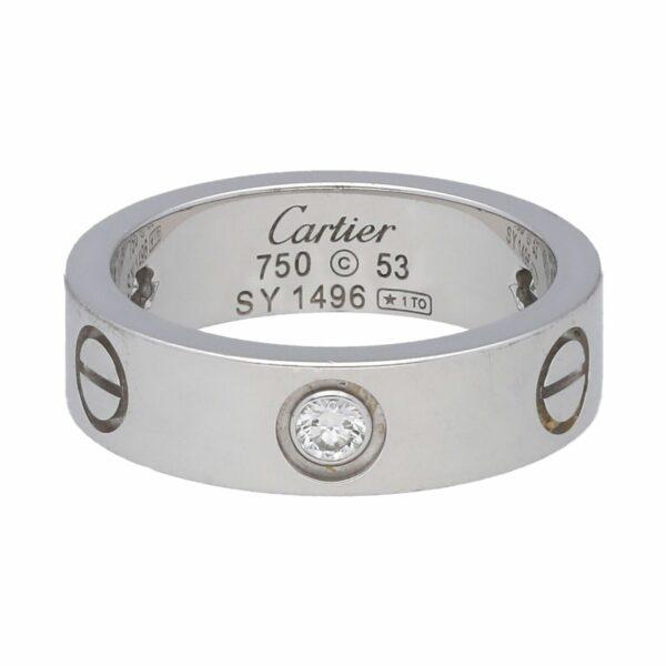 Cartier Love Band 3 Diamond B4032554 18k White Gold 750 Band Ring 53 625 133646207669 5