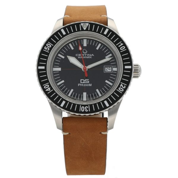 Certina DS PH200M C0364071605000 Black Dial Leather Automatic Mens Watch 124766017019 2