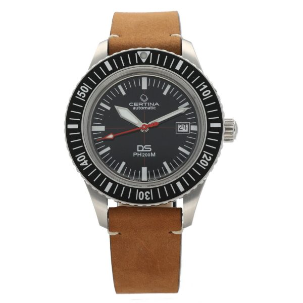 Certina DS PH200M C0364071605000 Black Dial Leather Automatic Mens Watch 124766017019