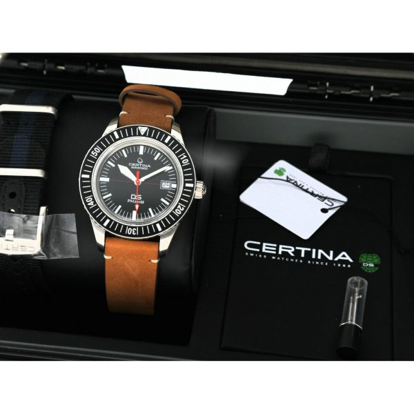 Certina DS PH200M C0364071605000 Black Dial Leather Automatic Mens Watch 124766017019 9