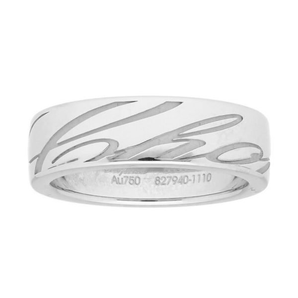 Chopard 827940 1110 18k White Gold 750 Chopardissimo Womens Ring Band 53US 6 114353112059 2