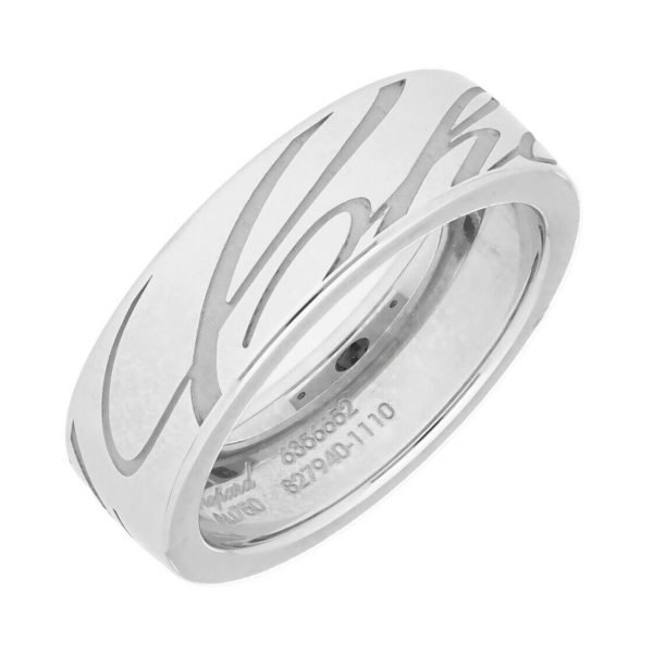 Chopard 827940 1110 18k White Gold 750 Chopardissimo Womens Ring Band 53US 6 114353112059