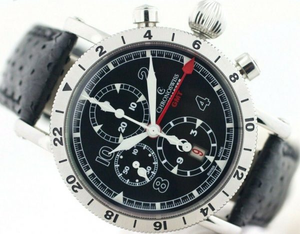 Chronoswiss GMT Chrono Timemaster CH7533 Leather 45mm Automatic Mens Watch 133366952699 3