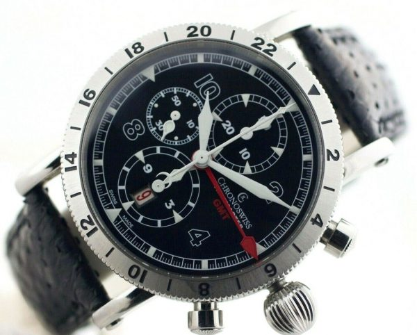 Chronoswiss GMT Chrono Timemaster CH7533 Leather 45mm Automatic Mens Watch 133366952699 4