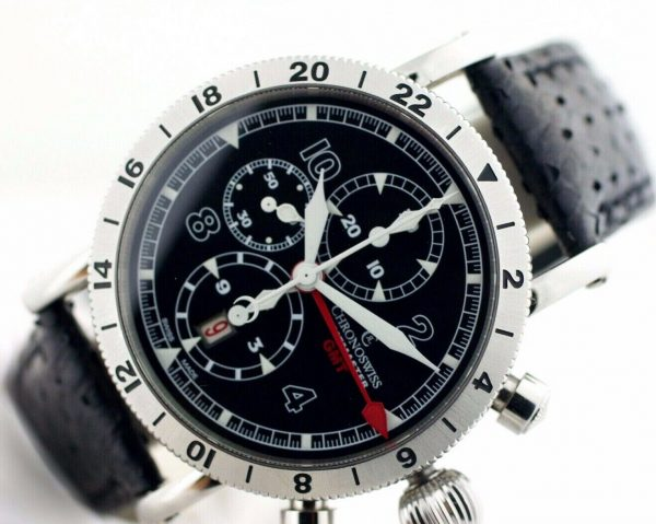 Chronoswiss GMT Chrono Timemaster CH7533 Leather 45mm Automatic Mens Watch 133366952699 5