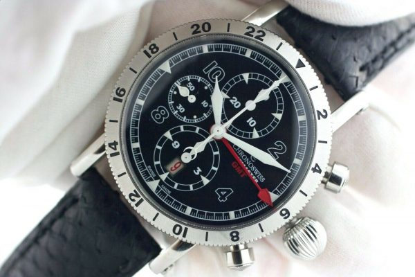 Chronoswiss GMT Chrono Timemaster CH7533 Leather 45mm Automatic Mens Watch 133366952699 6
