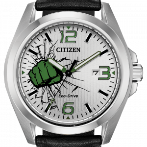 Citizen Eco Drive AW1431 24W The Hulk Marvel Steel 45mm Leather Solar Mens Watch 133570223799