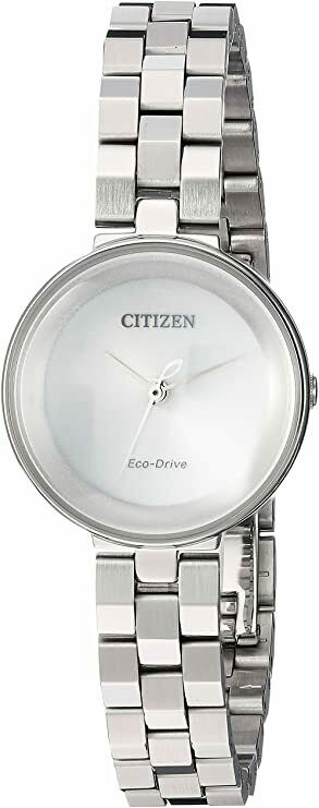 Citizen Eco Drive EW5500 81A Silhouette Stainless Steel 24mm Solar Womens Watch 133570327339
