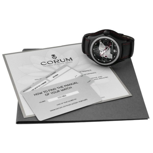Corum Bubble Night Flyer Z08292230 Limited Edition Black Automatic Mens Watch 114397596319 9